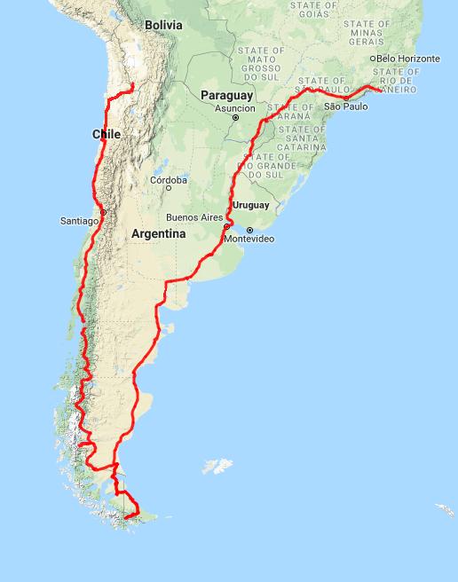 south america map 2